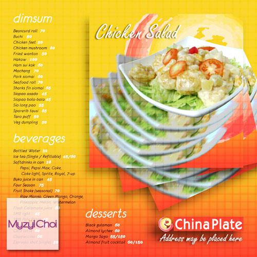 China Plate Menu | 2008